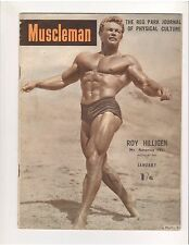 MUSCLEMAN  Reg Park Journal bodybuilding muscle magazine/ROY HILLIGEN 1-53 (UK)