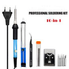 Saldatore a Stagno Professionale Elettrico Regolabile 60W 10 in1 Kit Saldatura