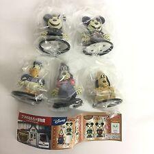 Disney Characters Tin-sheet Toy Mini Figure Collection 5pcs Set Yujin Japan