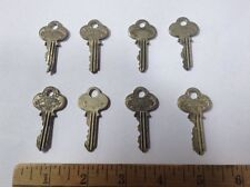8 Antique Ornate Skeleton Keys Small Padlock, Cabinet, Door? All P&F Corbin A2