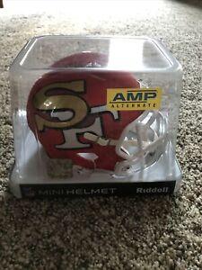 San Francisco 49ers NFL Amp Alternate Speed Riddell Mini Helmet New