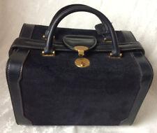Rare GUCCI Beauty-Case Train-Case Kosmetikkoffer Blau Vintage Lether