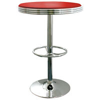 AmeriHome SFTABLER Soda Fountain Style Bar Table - Red