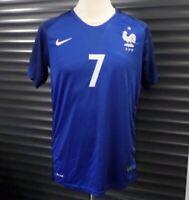 France Home Football Shirt Nike Blue Men's Size M Medium Euro 2016 7 Griezmann