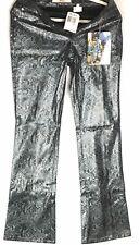 Paris Blues Womens Pants Snakeskin Black Blue Size 9 Authentic American Brand