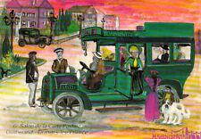 GRANGES-LES-VALENCE 1990 6 ème salon carte postale voiture auto