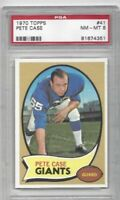 1970 Topps football card #41 Pete Case, New York Giants graded PSA 8 NMMT