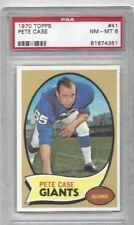 1970 Topps football card #41 Pete Case, New York Giants graded PSA 8 NMMT