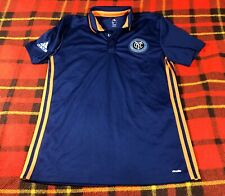Mens Adidas Climalite New York City Football Club FC Polo Shirt Sz M