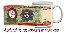 TAZZA 3 PESOS banconote CUBA-CHE GUEVARA fotomontaggio PERSONALIZZATA CON FOTO
