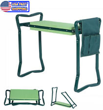 Folding Garden Kneeler Gardener Stool Kneeling Pad & Cushion Seat Sturdy
