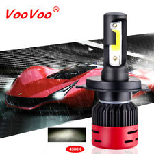 H4/9003 8000LM 4000K Car COB LED Conversion Headlight Fog Bulb Hi/Lo Beam 4300K