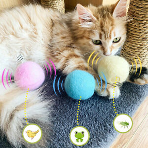 Smart Cat Toys Interactive Ball Catnip Cat Training Toy Pet Squeaky Supplies 07