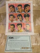 Elvis Presley15th Anniversary of Death Postage Stamp St. Vincent with COA #C5520