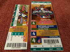 Awesome Scarce 2001 MLB World Seies & Series Ticket Stubs Lot CLEVELAND INDIANS