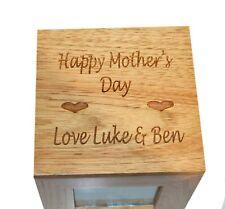 Feliz Día De La Madre Caja Cubo Roble Foto Recuerdo álbum de regalo de imagen Caja