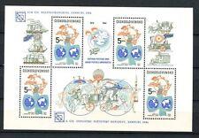 Cecoslovacchia 1984 SG #MS 2738 UPU MNH optd M / S #A 35562