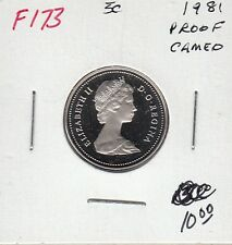 F173 CANADA 5 CENTS 5c COIN 1981 PROOF FROSTED CAMEO DESIGN CHARLTON $10.00