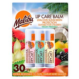 Malibu Lip Care Balm UVA/UVB Sunscreen Protection SPF 30 Watermelon Vanilla Mint