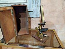 Microscope ancien en bronze XIXème médecine instrument .... *