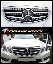 2009-2013 Mercedes W212 Classe E Berline ou Break Noir Calandre Chrome E350 E63