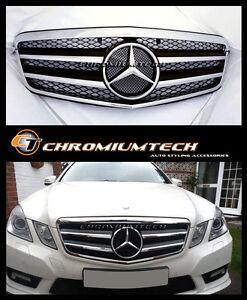 2009-2013 Mercedes W212 E-Class Saloon or Estate BLACK CHROME Grill E350 E63 AMG