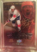2012 All Time Greats Wayne Gretzky Gold Auto #2/2 Shining Moments 1/1 Sick Card