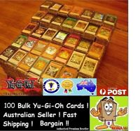 YuGiOh! 100 Bulk Cards Pack [10 Rares & HOLOS] GENUINE KONAMI. FREE SLEEVES