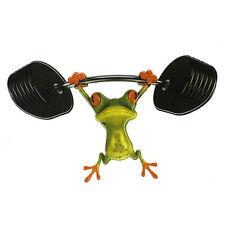 3D Cute Animal Frog Weights Gym Print Car 3D Sticker Badge Art - Car Accessories