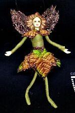Mini Green Brown Fairy Fabric Girl Doll 5'' Home Christmas Decoration