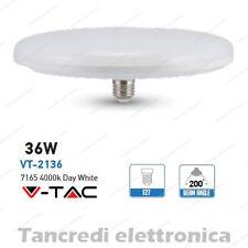 Lampadina led V-TAC 36W = 190W E27 bianco naturale 4000K VT-2136 ufo disco F250