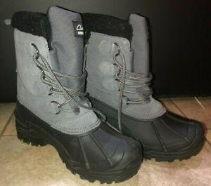 Mens Clarks Winter Waterproof Boots Grey Sz 8 NWT
