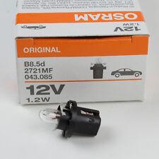 10x 2721MF OSRAM 1.2W 12V B8,5d instrument interior lamp car 1,2W B8.5d Germany