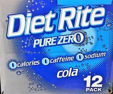 Diet Rite Pure Zero Cola Soda 12 Pack