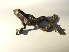 Ancienne grenouille en bronze, frog