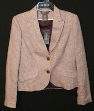 George by Mark Green Women's Size 6 - White/Light Purple Blazer 45% Polyester
