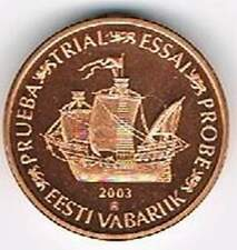 Eesti 2003 (Gr) probe-pattern-essai - 2 eurocent - Schip / Ship