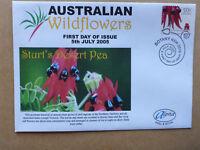 2005 AUSTRALIAN WILD FLOWERS STURT DESERT PEA ILLUSTRATED ALPHA FIRST DAY COVER