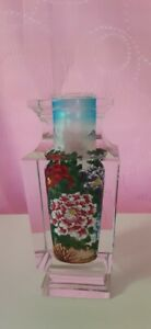 """BEAUTIFUL CRYSTAL FLOWER VASE.7"""" TALL.BRAND NEW.FREE PRIORITY SHIPPING"""