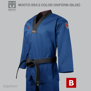 MOOTO BS4.5 Blue Color Uniform WT Taekwondo Demonstration Team Dobok Performance