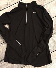 Nike Running Dri Fit Elements Half Zip Shirt  - Black - Size Medium