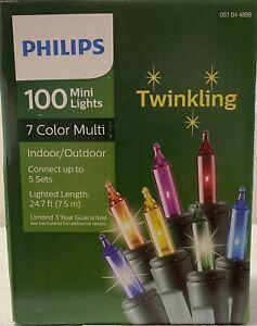 PHILIPS 100 MINI LIGHTS 7 COLOR MULTI 24.7 FT.