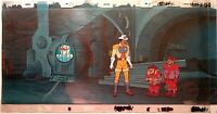 FILMATION BRAVESTARR KEY PAN PRODUCTION BACKGROUND SETUP, 1987, MATTED, w/COA