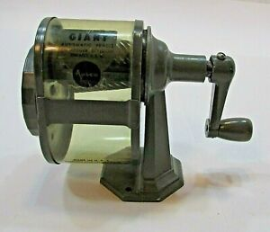 Vintage Giant APSCO Automatic Crank 7 Hole Pencil Sharpener C-12-R USA FREE S/H