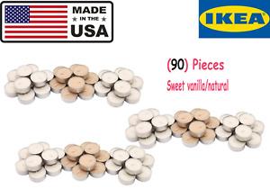 (90) Pieces SINNLIG Scented tealight, Sweet vanilla/natural free shipping Fresh