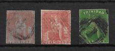 TRINIDAD 1851-59 1d SG7,12, 28 NO MARGIN
