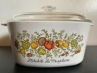 Vintage Corning Ware Spice of Life A-3-B L'Echalote La Marjolaine 3 Qt Casserole