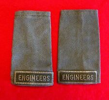 Vintage Canadian Army Epaulettes Lot of 2 Engineers Green on Green knu1