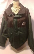 Tri-Mountain Mens Nylon Winter Jacket Size 2XL Green/Black