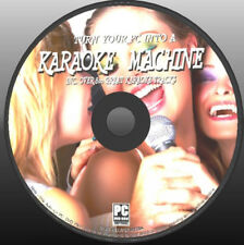 KARAOKE ON YOUR PC SOFTWARE, 800+ SONG TRACKS WITH WORD & LYRICS DISPLAY NEW DVD